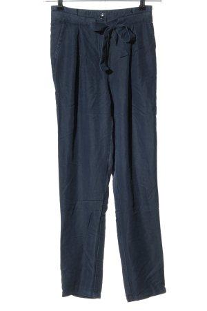 Soaked in luxury Pantalone a pieghe blu stile casual