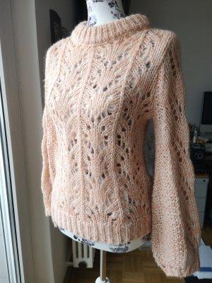 Soaked in luxury Maglione lavorato a maglia color oro rosa-crema