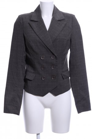 Soaked in luxury Blazer corto grigio chiaro motivo a quadri stile professionale