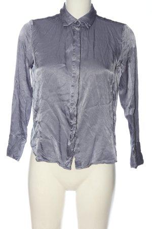 Soaked in luxury Camicia a maniche lunghe grigio chiaro stile casual