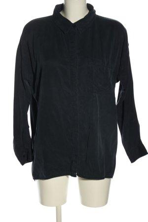 Soaked in luxury Camicia a maniche lunghe nero stile casual
