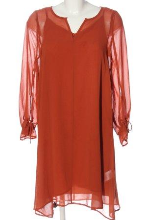 Soaked in luxury Abito a maniche lunghe arancione chiaro stile professionale