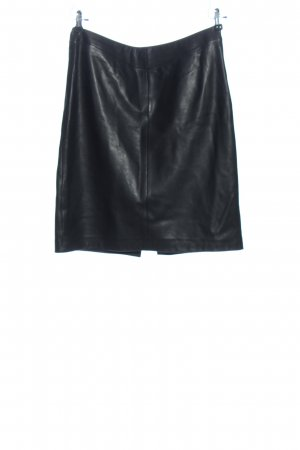 Soaked in luxury Leather Skirt black business style