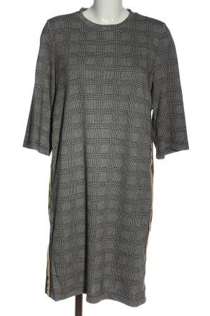 Soaked in luxury Abito midi nero-grigio chiaro motivo a quadri