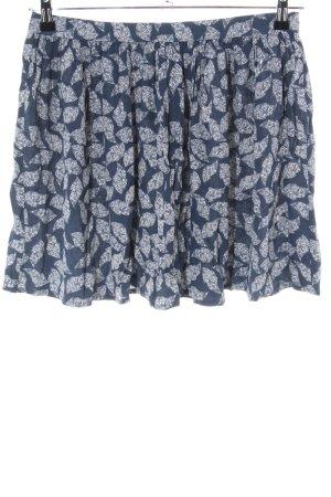 Soaked in luxury Minirock blau-weiß Allover-Druck Casual-Look