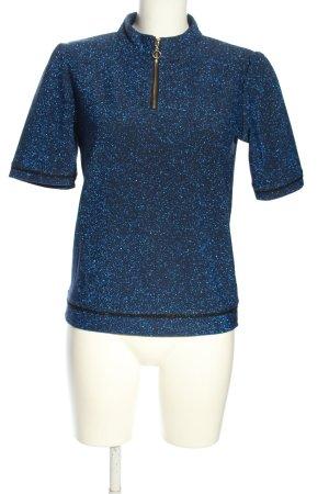 Soaked in luxury Maglia a collo alto blu puntinato stile casual