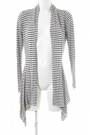 Soaked in luxury Cardigan white-black striped pattern casual look