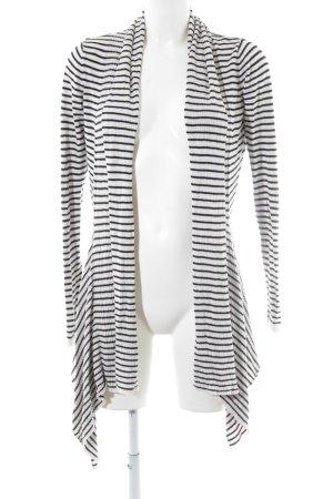 Soaked in luxury Strickjacke weiß-schwarz Streifenmuster Casual-Look