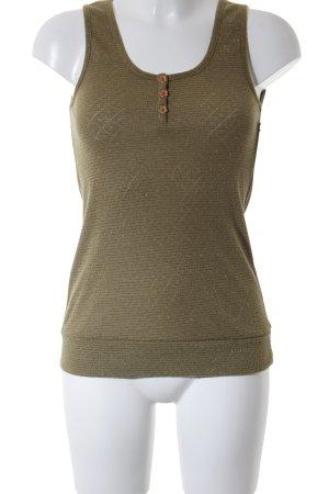 Soaked in luxury Top lavorato a maglia grigio-verde stile casual