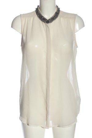 Soaked in luxury Transparenz-Bluse wollweiß klassischer Stil