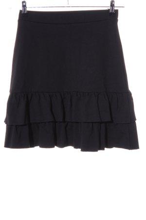 Soaked in luxury Volanten rok zwart casual uitstraling