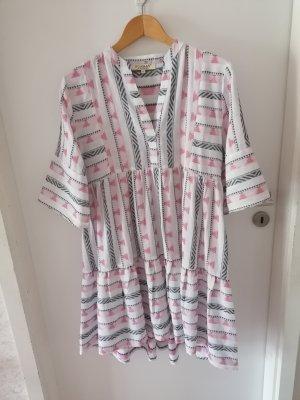 Soamax Kleid rosa /weiß /grau Gr. S neu