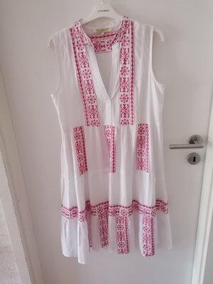 Soamax Kleid weiß /pink Gr. S neu