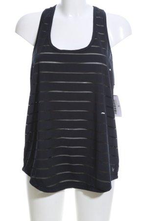 SOC A-Linien Top schwarz Streifenmuster Casual-Look