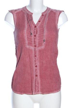 Soccx ärmellose Bluse pink Schriftzug gestickt Casual-Look