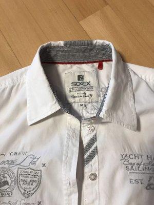 SOCCX Blusenhemd Gr.38 weiß