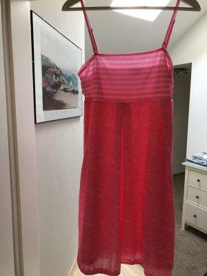 Soccx Robe de plage rose fluo-blanc