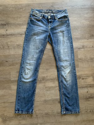 Soccx Denim Flares steel blue