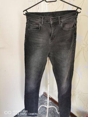 Soccx Jeans a vita alta grigio scuro