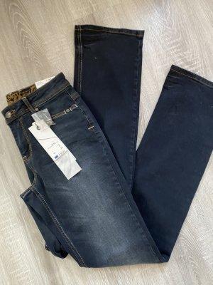 Soccx Skinny Jeans blue mixture fibre