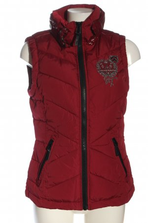 Soccx Down Vest red embroidered lettering casual look