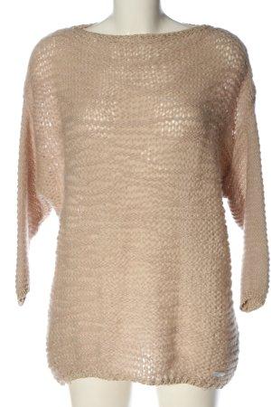 Soccx Pullover a maglia grossa crema stile casual