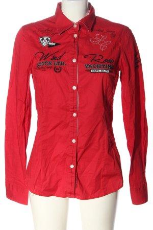Soccx Camicia blusa rosso Stampa a tema stile casual