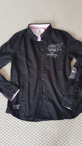 Soccx Hemd Bluse schwarz Baumwolle XL / 38 bis 42