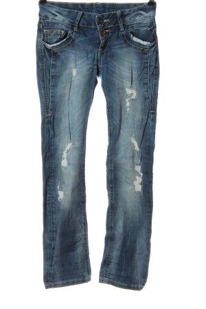 Soccx Jeans vita bassa blu stile casual