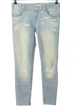 Soccx Hüftjeans blau-weiß Streifenmuster Casual-Look