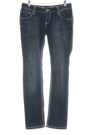 Soccx Low Rise Jeans dark blue street-fashion look