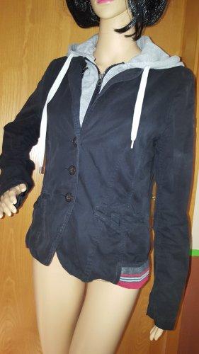 Soccx Chaqueta estilo universitario negro-rojo ladrillo Algodón