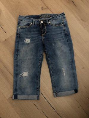 Soccx Jeans 3/4 bleu azur