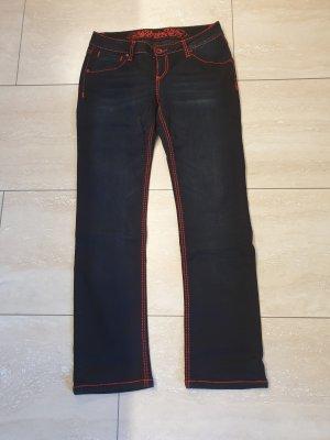 Soccx Jeans cigarette bleu foncé