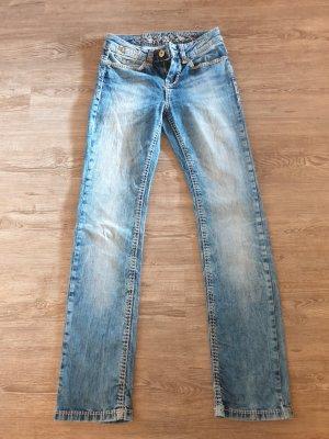 Soccx Pantalón de tubo azul