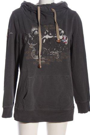Soccx Kapuzensweatshirt Motivdruck Casual-Look