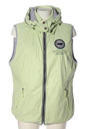 Soccx Capuchon vest groen casual uitstraling