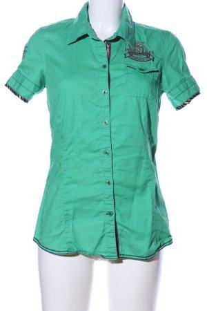 Soccx Kurzarm-Bluse grün Casual-Look