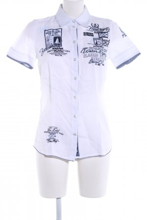 Soccx Short Sleeve Shirt white-blue themed print casual look
