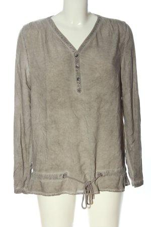 Soccx Camicetta a maniche lunghe grigio chiaro stile casual