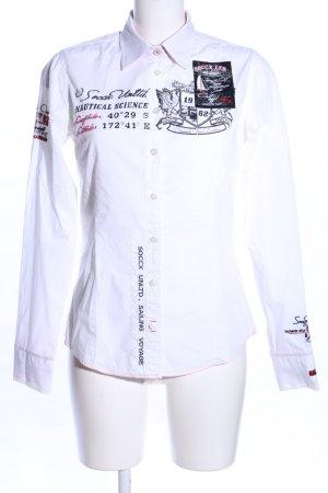 Soccx Langarmhemd Motivdruck Casual-Look