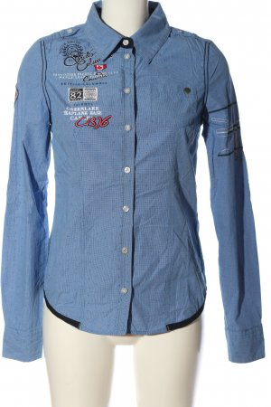 Soccx Langarmhemd blau-weiß Karomuster Casual-Look