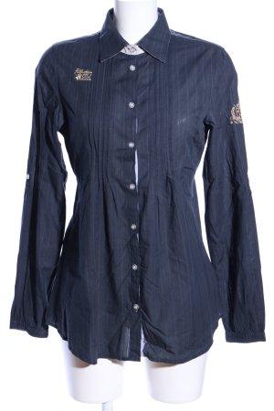 Soccx Langarmhemd blau Streifenmuster Casual-Look