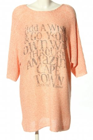 Soccx Sweater Dress nude-light grey printed lettering casual look