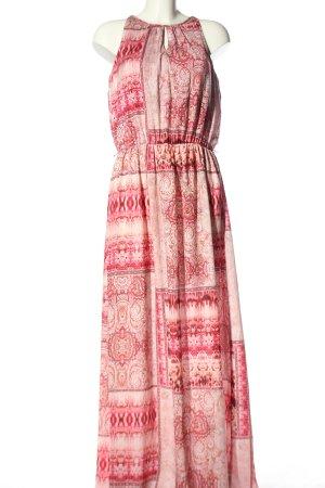Soccx Maxikleid pink-creme Allover-Druck Casual-Look