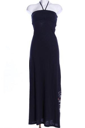 Soccx Robe dos-nu noir-bleu style décontracté