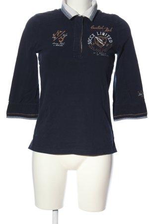 Soccx Polo-Shirt Motivdruck Casual-Look