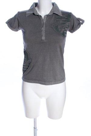 Soccx Polo-Shirt hellgrau Motivdruck Casual-Look