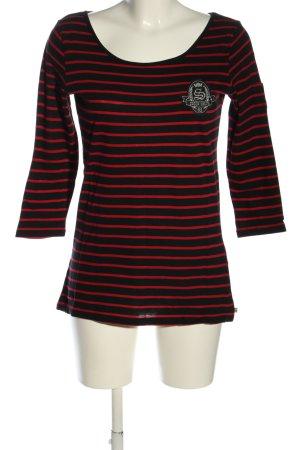 Soccx Ringelshirt schwarz-rot Streifenmuster Casual-Look