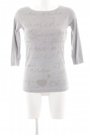 Soccx Geribd shirt lichtgrijs gestippeld zakelijke stijl